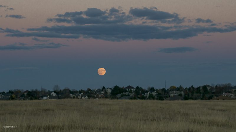 Rod Cerkoney 在  Fort Collins, Colorado caught the November 13 supermoon. He 写道: